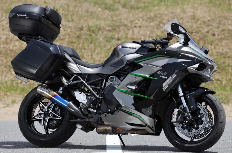 Kawasaki Ninja H2 SX SE (2BL-ZXT02A) POWERBOXメガホン チタンブルー